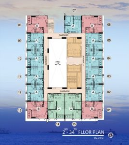 Dusit Grand Condo View Floor Plan - 2nd - 34th Floor