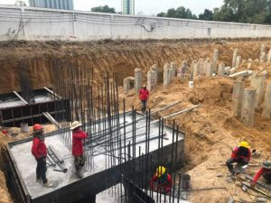 Foundation work started Dusit Park 2