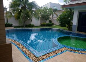 Modern style house with pool